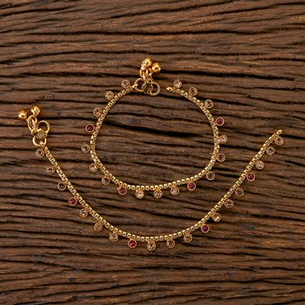202308 Antique Baby Payal with Gold Plating
