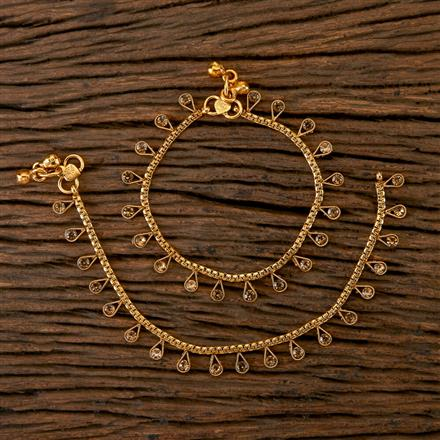 202309 Antique Baby Payal with Gold Plating