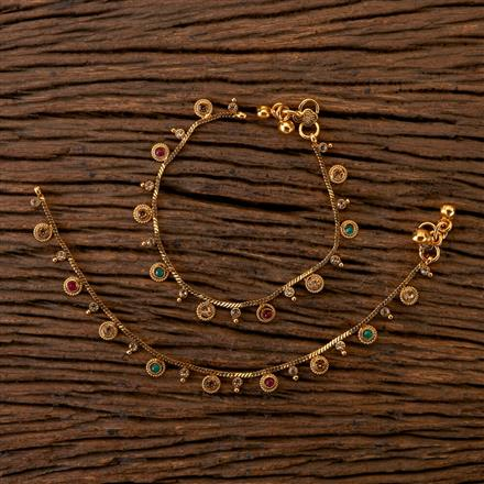 202311 Antique Baby Payal with Gold Plating