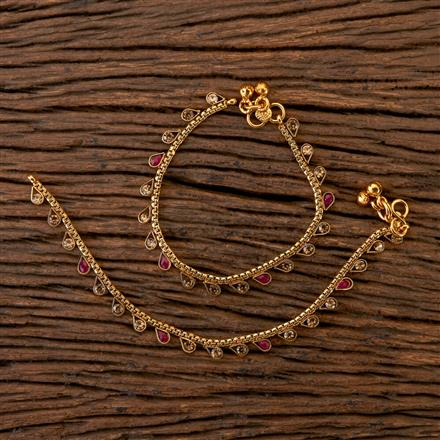 202312 Antique Baby Payal with Gold Plating