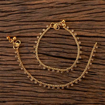202313 Antique Baby Payal with Gold Plating