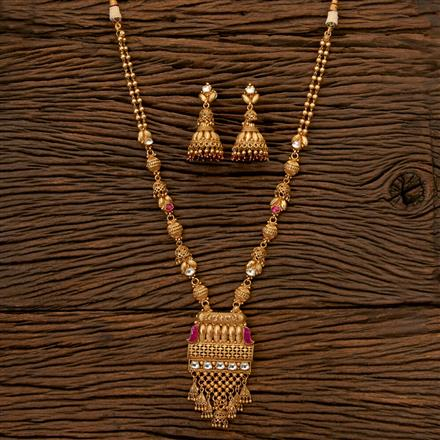 202393 Antique Long Necklace with Gold Plating
