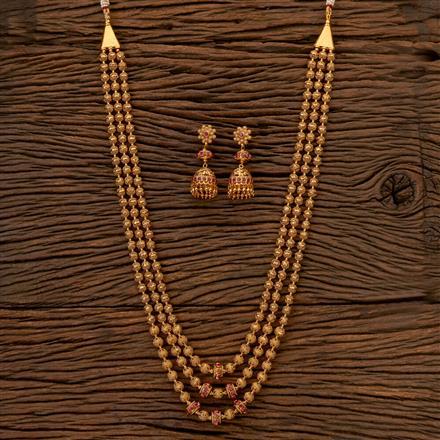 202399 Antique Long Necklace with Gold Plating