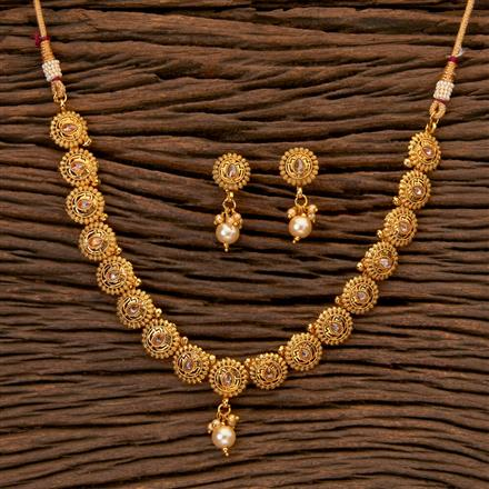 202470 Antique Delicate Necklace with Gold Plating