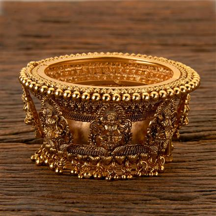 202472 Antique South Indian Bangles With Matte Gold Plating
