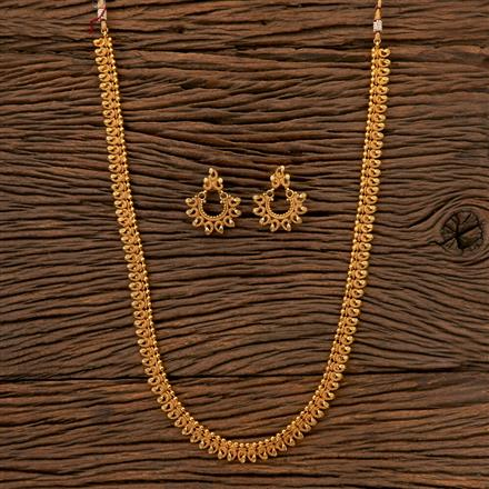 202538 Antique Long Necklace with Gold Plating