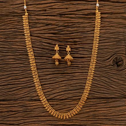 202539 Antique Long Necklace with Gold Plating