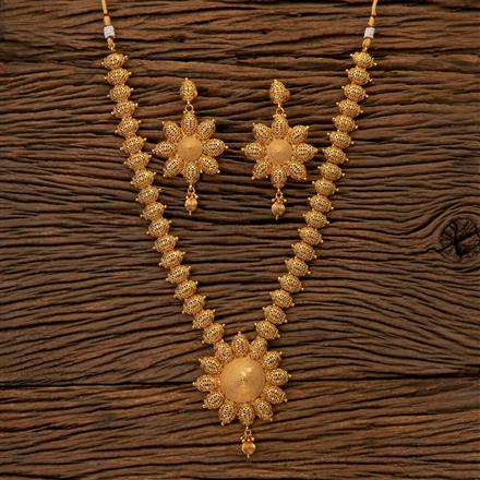 202540 Antique Long Necklace with Gold Plating