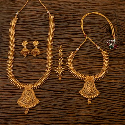 202544 Antique Combo Necklace sets with Gold Plating