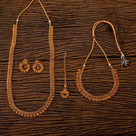 202545 Antique Combo Necklace sets with Gold Plating