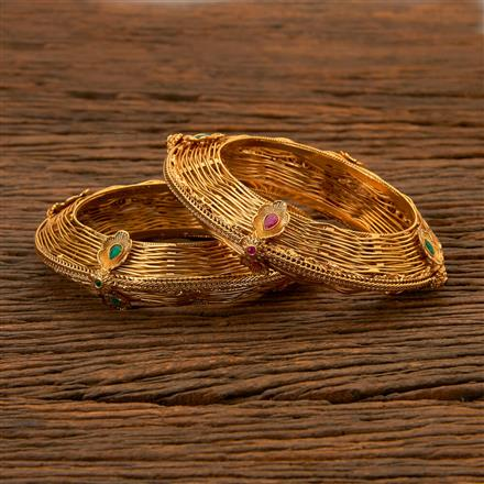 202559 Antique Openable Bangles with Gold Plating