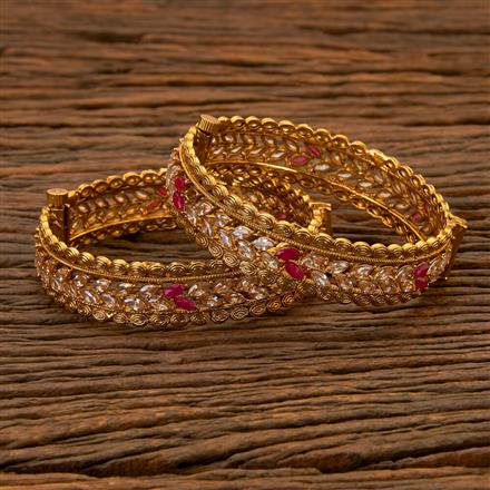 202561 Antique Openable Bangles with Gold Plating