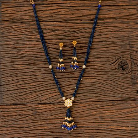 202691 Antique Long Necklace with Gold Plating