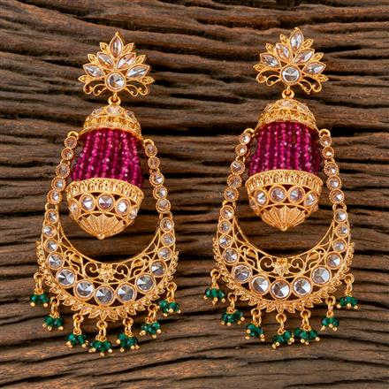 202703 Antique Chand Earring with Gold Plating