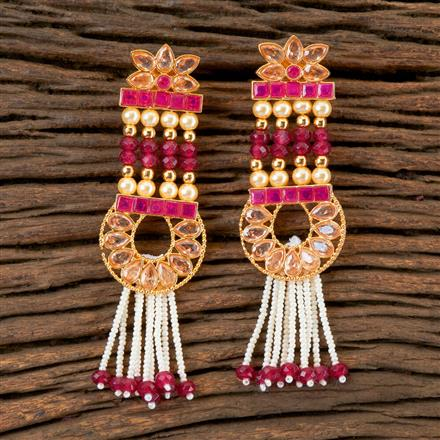 202750 Antique Long Earring with Gold Plating