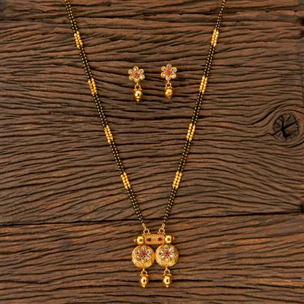 202755 Antique Classic Mangalsutra with Gold Plating