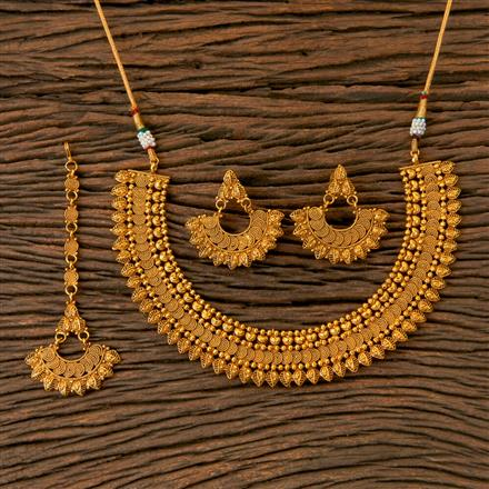 202764 Antique Plain Necklace with Gold Plating