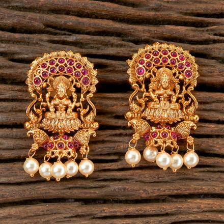 202784 Antique Peacock Earring with Matte Gold Plating