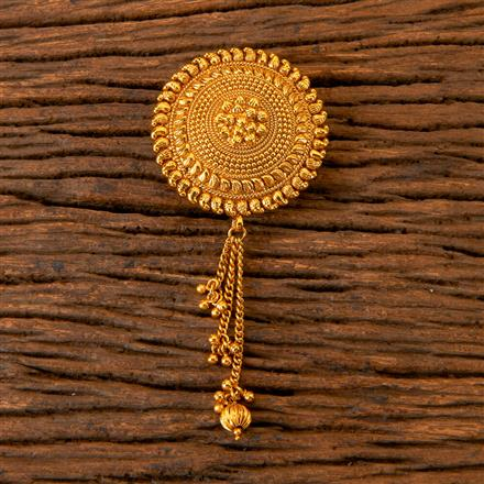 202789 Antique Plain Brooch with Gold Plating