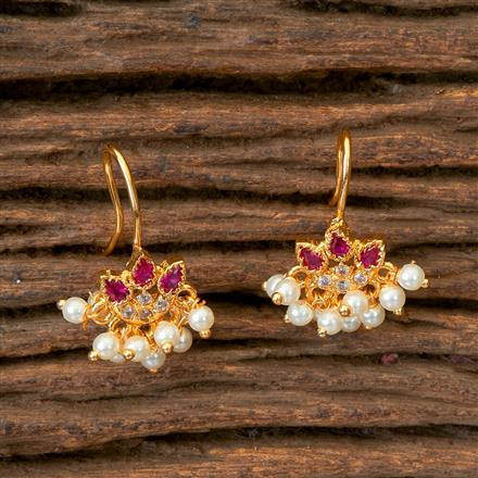 202810 Antique Delicate Earring with Gold Plating