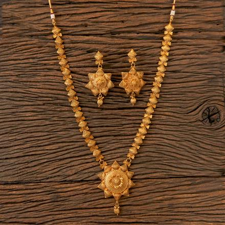 202829 Antique Long Necklace with Gold Plating