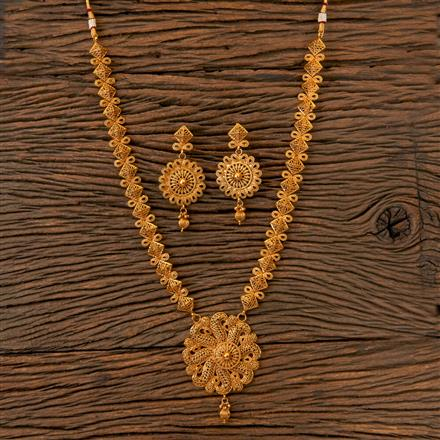 202830 Antique Long Necklace with Gold Plating