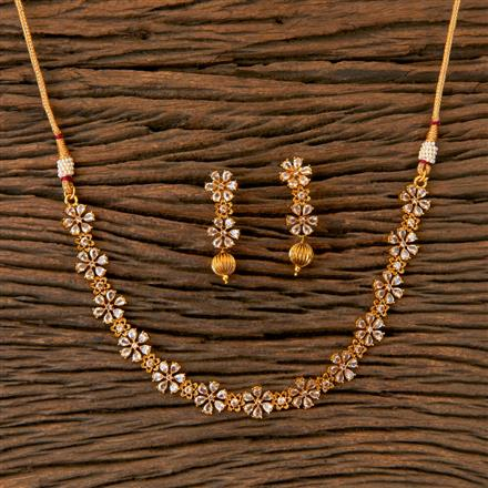 202833 Antique Delicate Necklace with Gold Plating