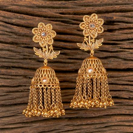 202846 Antique Long Earring with Gold Plating