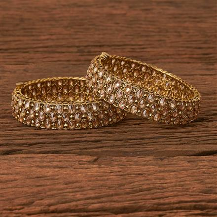 202862 Antique Openable Bangles with Mehndi Plating