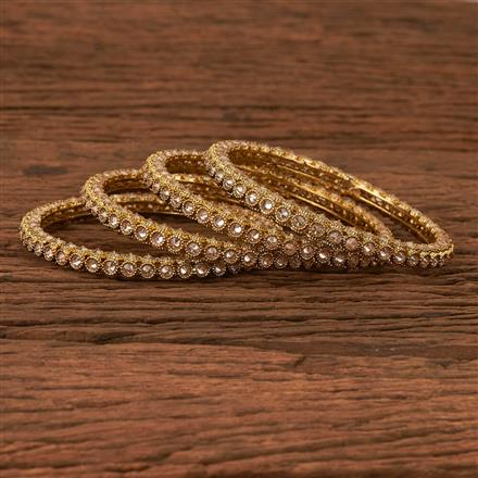 202863 Antique Classic Bangles with Mehndi Plating