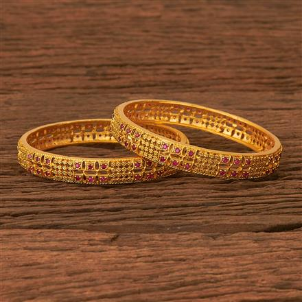 202875 Antique Classic Bangles with Matte Gold Plating