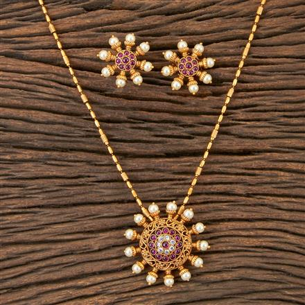 202890 Antique Classic Pendant set with Matte Gold Plating