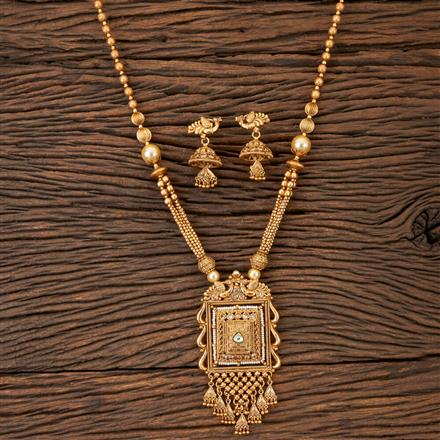 202900 Antique Peacock Pendant set with Matte Gold Plating