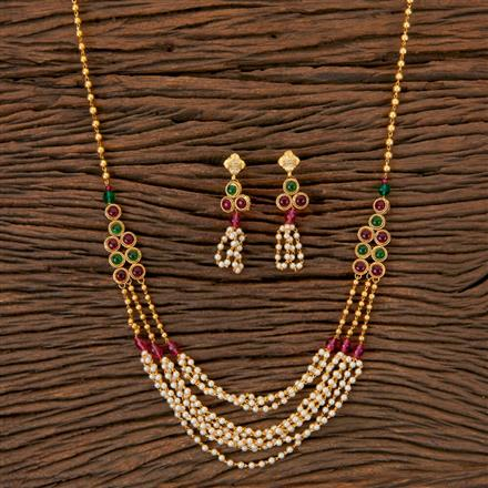 202982 Antique Mala Necklace with Gold Plating