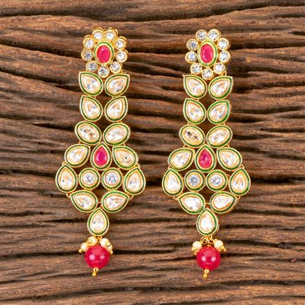 203023 Antique Long Earring with Gold Plating