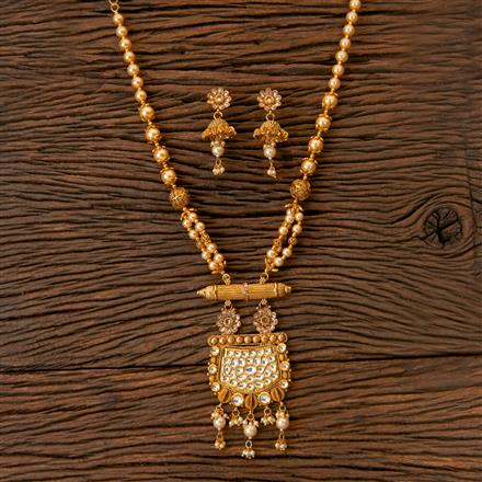 203034 Antique Mala Pendant set with Gold Plating