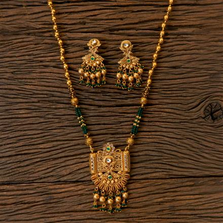 203063 Antique Mala Pendant set with Gold Plating