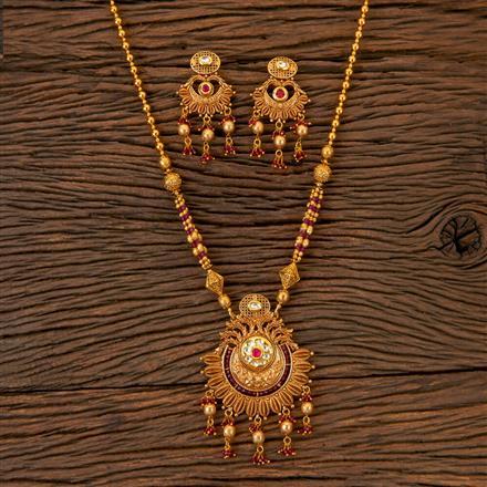203065 Antique Mala Pendant set with Gold Plating
