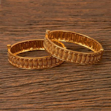 203068 Antique Openable Bangles with Gold Plating