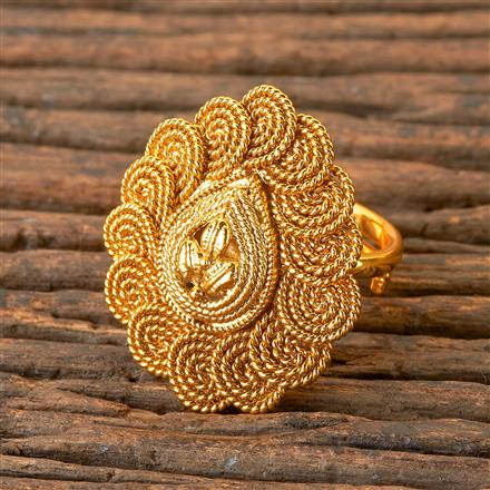 203071 Antique Delicate Ring with Gold Plating