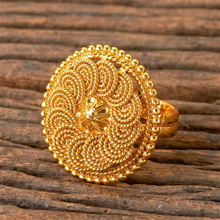 203074 Antique Delicate Ring with Gold Plating