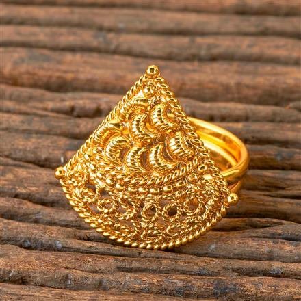 203077 Antique Delicate Ring with Gold Plating