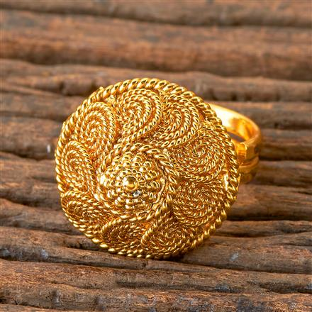 203079 Antique Delicate Ring with Gold Plating