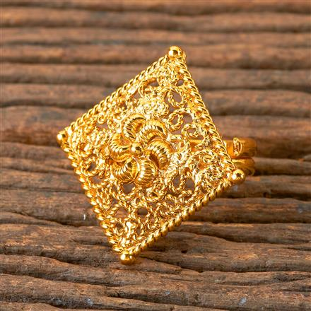 203083 Antique Delicate Ring with Gold Plating