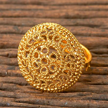 203087 Antique Delicate Ring with Gold Plating