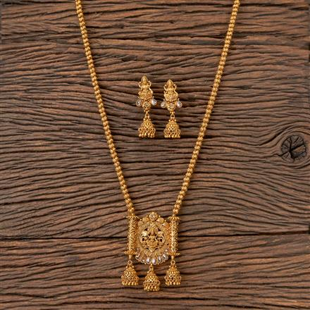 203142 Antique Temple Pendant set with Gold Plating