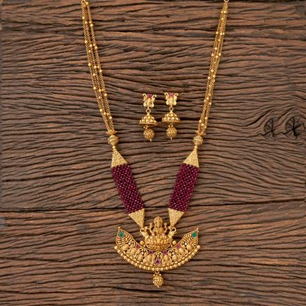 203158 Antique Temple Necklace with Matte Gold Plating