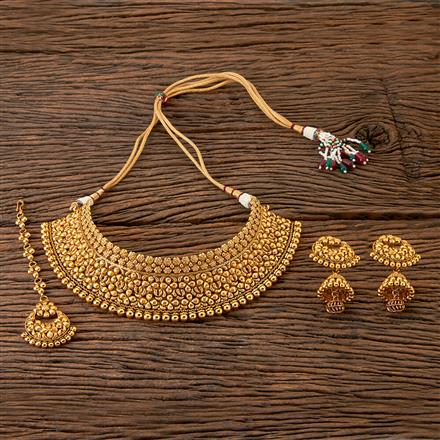 203174 Antique Choker Necklace with Gold Plating