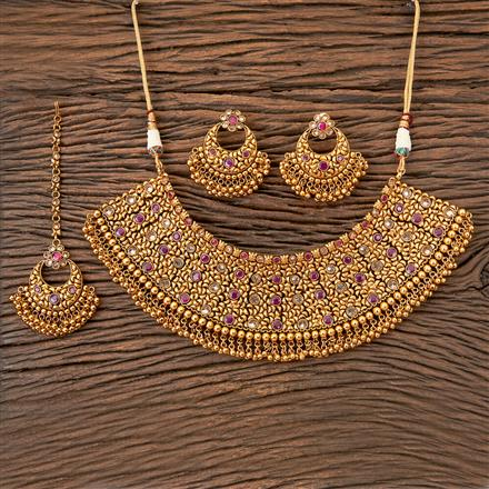 203175 Antique Choker Necklace with Gold Plating