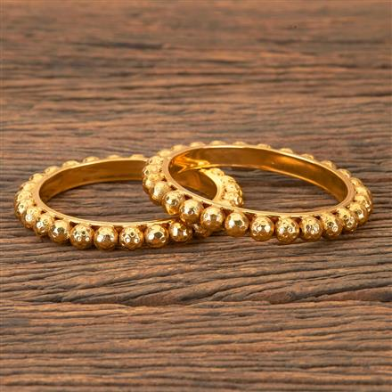 203240 Antique Plain Bangles with Gold Plating